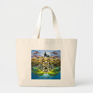 Tread Lightly Large Tote Bag