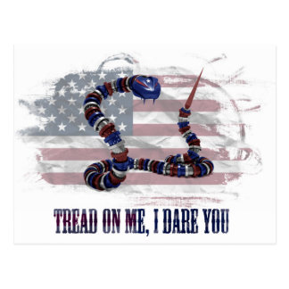 Tread on me, I dare you Postcard