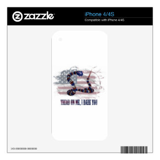Tread on me, I dare you Skins For The iPhone 4S