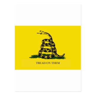 tread on them postcard