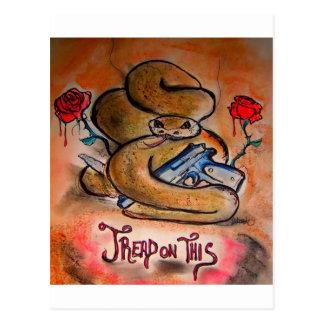 """Tread On This"" - by Debi Blount Postcard"