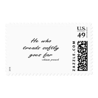 Tread Softly quote Stamps