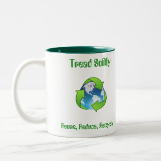 Tread Softly Reuse, Reduce, Recycle Mug Cup