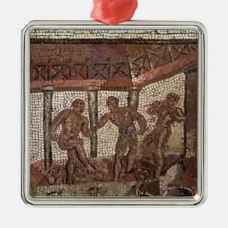Treading grapes, from Saint-Roman-en-Gal Metal Ornament