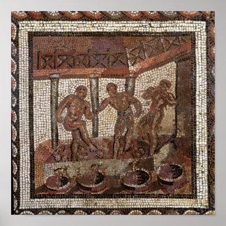 Treading grapes, from Saint-Roman-en-Gal Poster