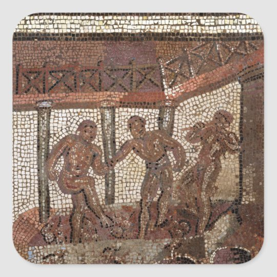 Treading grapes, from Saint-Roman-en-Gal Square Sticker