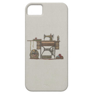 Treadle Sewing Machine & Kittens iPhone SE/5/5s Case