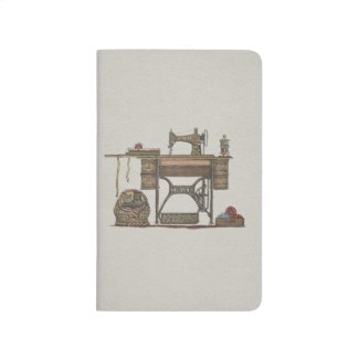 Treadle Sewing Machine & Kittens Journal