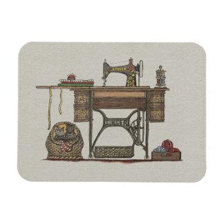 Treadle Sewing Machine & Kittens Rectangular Photo Magnet