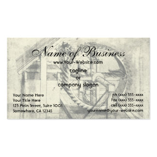 Treadmill Powered Crossbow by Leonardo da Vinci Double-Sided Standard Business Cards (Pack Of 100)