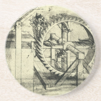 Treadmill Powered Crossbow by Leonardo da Vinci Drink Coaster