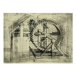 Treadmill Powered Crossbow by Leonardo da Vinci Poster