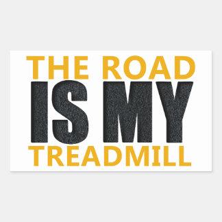 Treadmill Rectangular Sticker