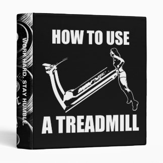 Treadmill - Women's Funny Novelty Workout Binder