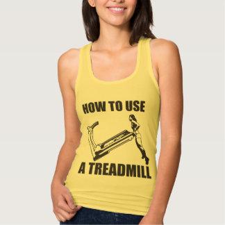 Treadmill - Women's Funny Novelty Workout Jersey Racerback Tank Top