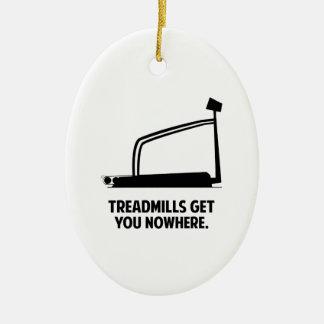 Treadmills Get You Nowhere Christmas Ornaments