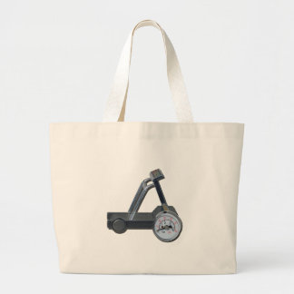 TreadmillWithPressureGauge062115 Large Tote Bag