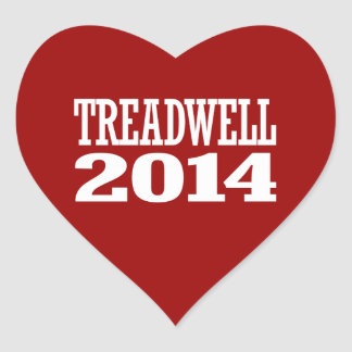 TREADWELL 2014 HEART STICKER
