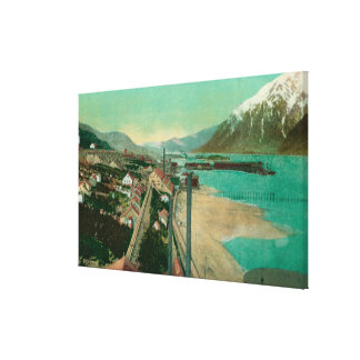 Treadwell, AK and Douglas City and Juneau in Canvas Print
