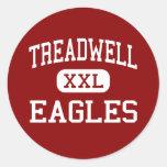 Treadwell - Eagles - altos - Memphis Tennessee Pegatina Redonda