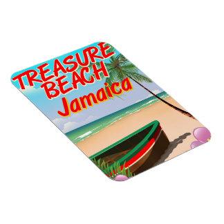 Treasure beach Jamaica travel poster Magnet