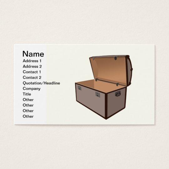 Treasure box business card