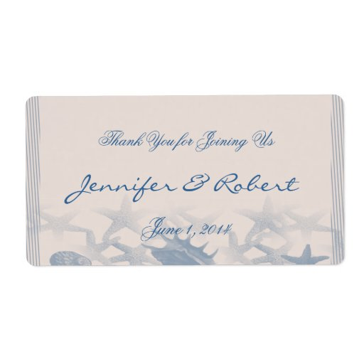 Treasure by the Sea Water Bottle Label Shipping Label