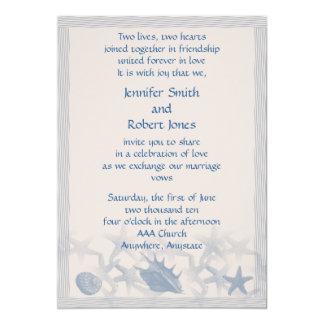 Treasure by the Sea Wedding Invitation