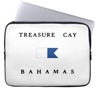 Treasure Cay Bahamas Alpha Dive Flag Computer Sleeve
