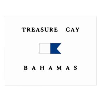 Treasure Cay Bahamas Alpha Dive Flag Postcard