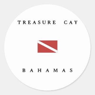 Treasure Cay Bahamas Scuba Dive Flag Classic Round Sticker