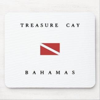 Treasure Cay Bahamas Scuba Dive Flag Mouse Pad