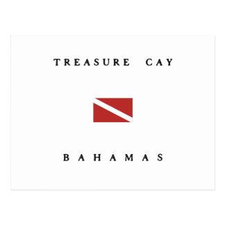 Treasure Cay Bahamas Scuba Dive Flag Postcard