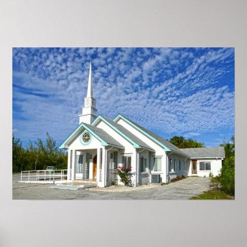 Treasure Cay Church, The Bahamas Poster