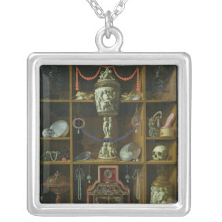 Treasure Chest, 1666 Silver Plated Necklace
