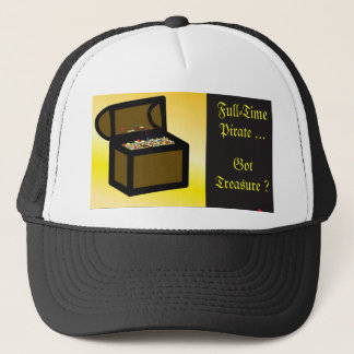 Treasure Chest Background Design Trucker Hat
