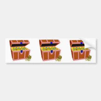 Treasure Chest Bumper Sticker