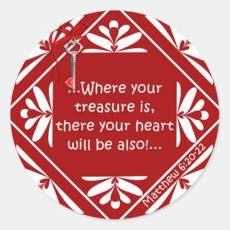 Treasure chest classic round sticker