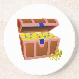 Treasure Chest Beverage Coasters