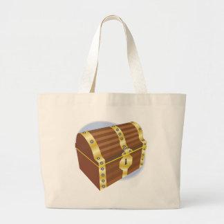 Treasure Chest Large Tote Bag