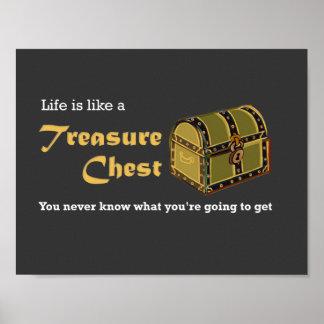 Treasure Chest Life Poster