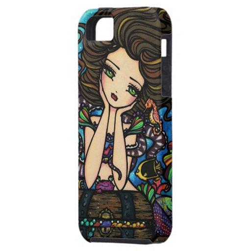 Treasure Chest Mermaid Fantasy Art iPhone Case iPhone 5 Case