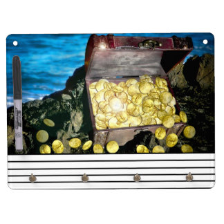 Treasure Chest of Gold on the Rocks Dry-Erase Whiteboards