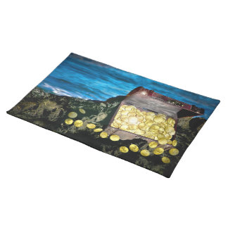 Treasure Chest of Gold on the Rocks Placemats