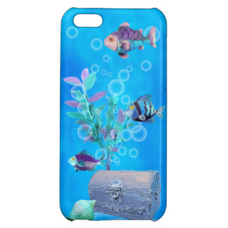 Treasure Chest & Pretty Fish in the Ocean Case For iPhone 5C