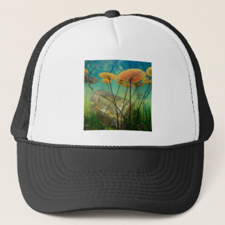 Treasure Chest Sunken Gold Under Water Lily Pads Trucker Hat