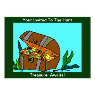 Treasure Hunt customize and personalize invitation