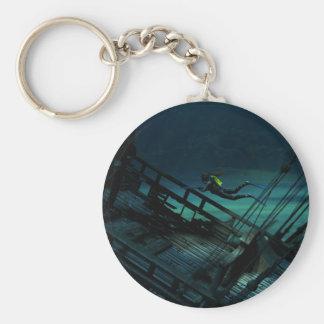 Treasure hunter basic round button keychain