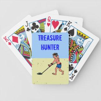 Treasure Hunter Metal Detector Man On Beach Playing Cards