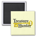Treasure Hunter with gold key Fridge Magnet